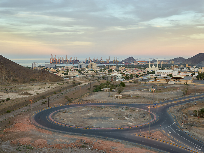 "Philip Cheung, ""Roundabout, Khor Fakkan, Sharjah,"" 2014, from 'The Edge'"