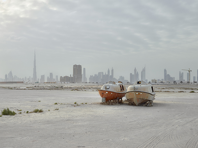 "Philip Cheung, ""Lifeboats, Al Jaddaf, Dubai,"" 2015, from 'The Edge'"