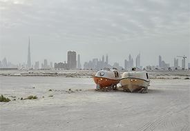 "Philip Cheung, ""Lifeboats, Al Jaddaf, Dubai,"" 2015"